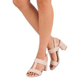 SDS Różowe sandały na słupku 2