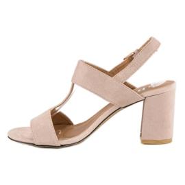 SDS Różowe sandały na słupku 4