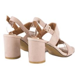 SDS Różowe sandały na słupku 5