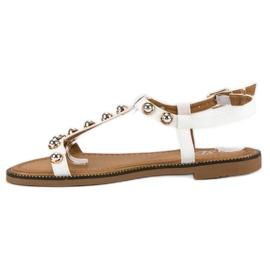 SDS Białe Sandały Na Sprzączkę 3
