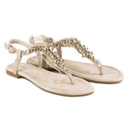 Eleganckie płaskie sandały vices brązowe 4