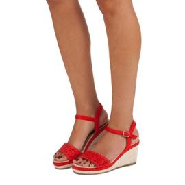 Ideal Shoes Czerwone Espadryle Na Koturnie 2