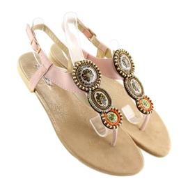 Sandałki japonki różowe 4111 Pink 6