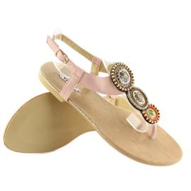 Sandałki japonki różowe 4111 Pink 4