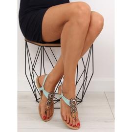 Sandałki japonki miętowe 4111 L.BLUE niebieskie 1