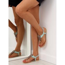 Sandałki japonki miętowe 4111 L.BLUE niebieskie 3