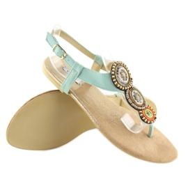 Sandałki japonki miętowe 4111 L.BLUE niebieskie 4