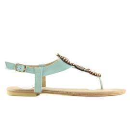 Sandałki japonki miętowe 4111 L.BLUE niebieskie 5