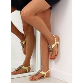 Sandałki japonki żółte 4111 Yellow 3