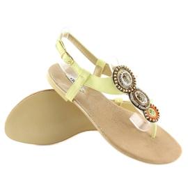 Sandałki japonki żółte 4111 Yellow 4