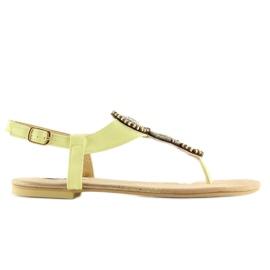 Sandałki japonki żółte 4111 Yellow 5