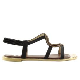 Sandałki asymetryczne czarne 4157 Black 1