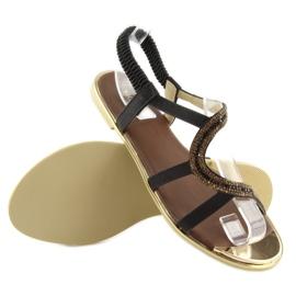Sandałki asymetryczne czarne 4157 Black 5