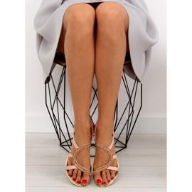 Sandałki asymetryczne różowe 4157 Pink 3