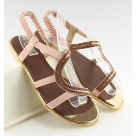 Sandałki asymetryczne różowe 4157 Pink 1