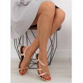 Sandałki asymetryczne różowe 4157 Pink 2