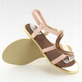 Sandałki asymetryczne różowe 4157 Pink 4