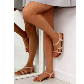 Sandałki asymetryczne różowe 4157 Pink 5