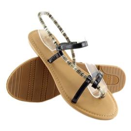 Sandałki japonki czarne 5130 black 4