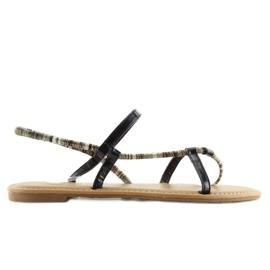 Sandałki japonki czarne 5130 black 5