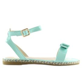 Sandałki pastelowe niebieskie 6128 blue 6