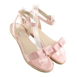 Sandałki pastelowe różowe 6128 pink 5