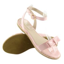 Sandałki pastelowe różowe 6128 pink 3