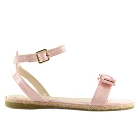 Sandałki pastelowe różowe 6128 pink 4
