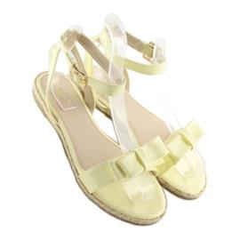 Sandałki pastelowe żółte 6128 yellow 5