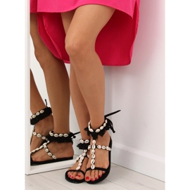 Sandałki z muszelkami czarne 8225 Black 1