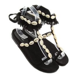 Sandałki z muszelkami czarne 8225 Black 6