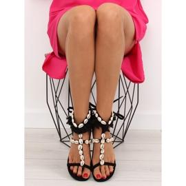 Sandałki z muszelkami czarne 8225 Black 2