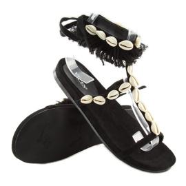Sandałki z muszelkami czarne 8225 Black 5