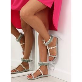 Sandałki z muszelkami niebieskie 8225 L.BLUE 4