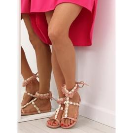 Sandałki z muszelkami różowe 8225 Pink 3