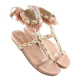 Sandałki z muszelkami różowe 8225 Pink 6