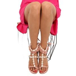Sandałki z muszelkami różowe 8225 Pink 4