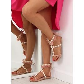 Sandałki z muszelkami różowe 8225 Pink 5