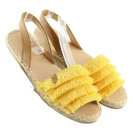 Espadryle w karaibskim stylu żółte 8413 Yellow 2