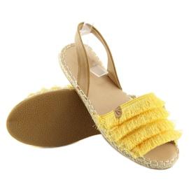 Espadryle w karaibskim stylu żółte 8413 Yellow 1