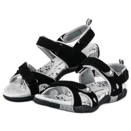 Hasby Damskie sandały na rzepy czarne 2