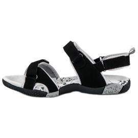 Hasby Damskie sandały na rzepy czarne 3