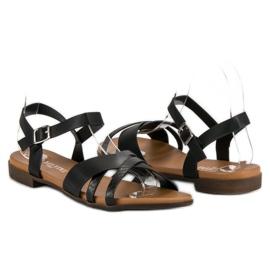 L. Day Czarne płaskie sandały 1