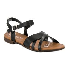 L. Day Czarne płaskie sandały 2