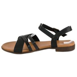 L. Day Czarne płaskie sandały 3