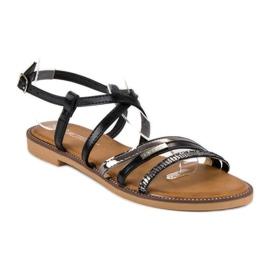 Bestelle Czarne sandały zapinane na sprzączkę 2
