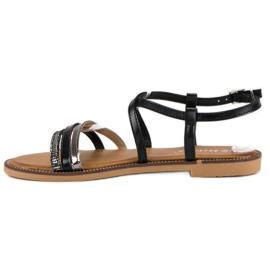 Bestelle Czarne sandały zapinane na sprzączkę 3