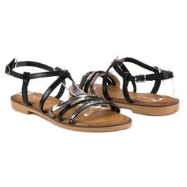 Bestelle Czarne sandały zapinane na sprzączkę 4