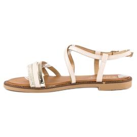 Bestelle Beżowe sandały zapinane na sprzączkę beżowy 4