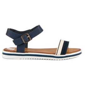 Top Shoes Marynarskie sandały damskie niebieskie 1